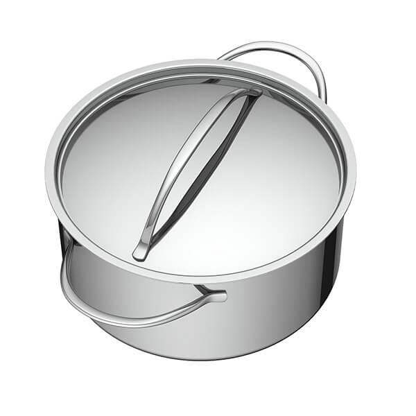 Cacerola+con+Tapa+de+Acero+-+24+cm