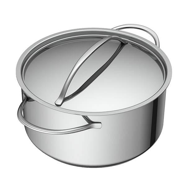 Cacerola+con+Tapa+de+Acero+-+28+cm