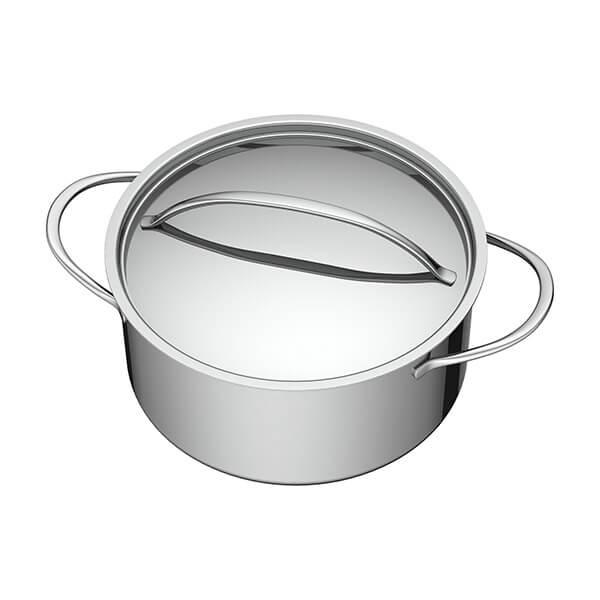 Cacerola+con+Tapa+de+Acero+-+20+cm