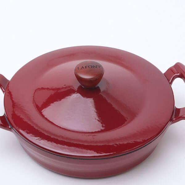 Paellera Hierro Fundido Roja