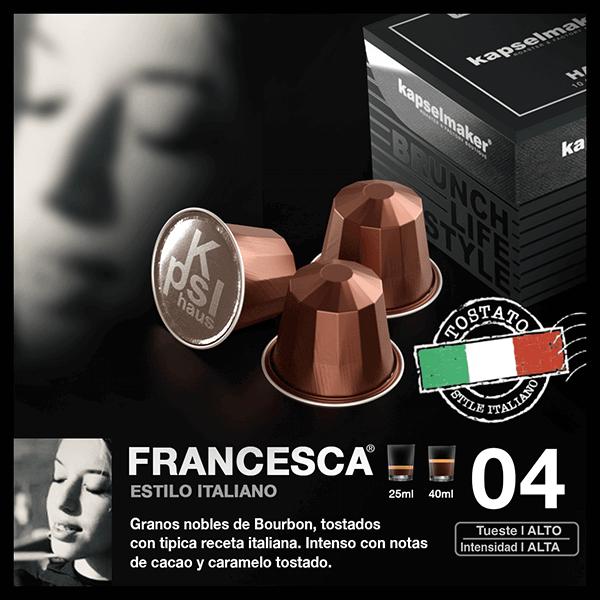 Cápsulas de Café Francesca