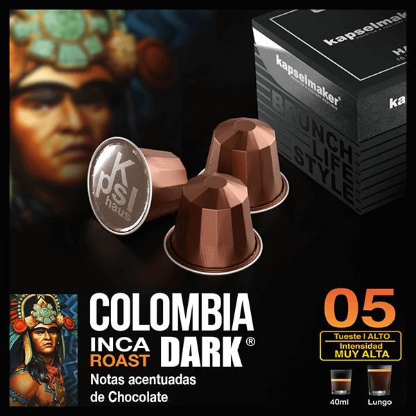 Cápsulas de Café Colombia Dark