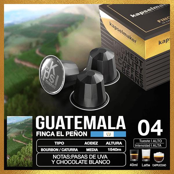 Cápsulas de Café Finca Guatemala