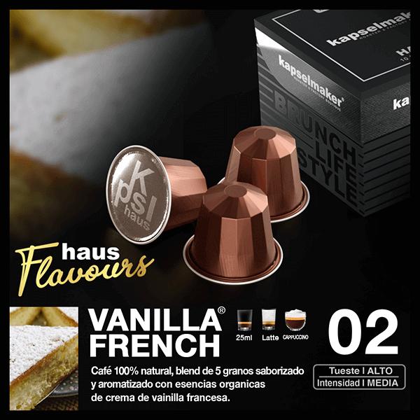 Cápsulas de Café Vainilla French